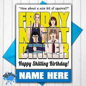 Friday Night Dinner Personalised Birthday Card any Name Funny Humour
