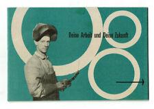 """Politische Broschüre zum Marshallplan - """"Deine Arbeit und Deine Zukunft"""" 1950"""