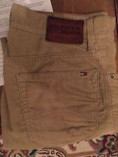 Mens TOMMY HILFIGER W30 L32 Brown Rogar Bootcut Cords Corduroy Jeans