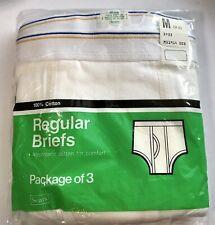 New listing Vintage Sears Men's Cotton Briefs Nib Medium 34-36 Underwear New 3 Pair