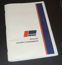 Piper PA23 Apache 1954-56 Owner's Manual (part# 752-420) Reproduction