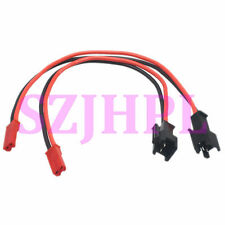 "2pcs JST male to SM 2Pin plug Female Adapter 6"" 20awg Wire LED RC battery FPV"