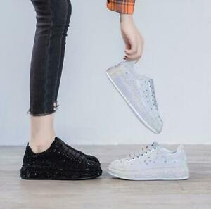 2021 Spring Autumn New Women Platform Mid-heel Shoes Casual Shoes Sports Shoes