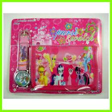 LOVELY My Little Pony Children's Kids Girls Wrist Watch Wallet Set For Gift