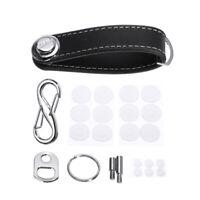Portable Genuine Leather Key Wallet Organizer Holder Belt Car Keyring Keychain