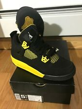 AIR JORDAN 4 RETRO Size 5.5   THUNDER 2012 RELEASE black yellow