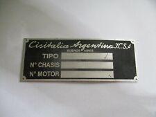 Nameplate Cisitalia Argentina Vintage Car