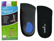Healthy Step Arch Support Orthotic Insole Inserts 3/4 Length Men & Women