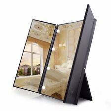 Magnifying Folding Portable Illuminated Make Up Dressing Mirror w/ 8 LED Light