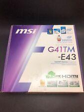 MSI Motherboard G41TM-E43 LGA775 Intel G41 HDMI ICH7 DDRII NEW!