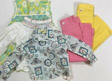 Vtg 70s Girls Clothes Lot Size 6/6X Garanimals Sears Dress Bell Bottoms Tops 5pc