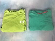 Under Armour Men's Size Small Short Sleeve Green Shirts - Lot of 2 -