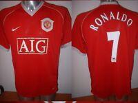 Manchester United Nike RONALDO Boys M L XL Football Soccer Shirt Jersey Portugal