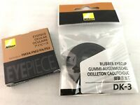 New Nikon DK-3 Finder Rubber Eyecup & FA Eyepiece Set for FM3 FM2 FA Film Camera