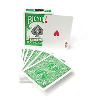 INVISIBLE BICYCLE GREEN RIDER BACK DECK GIMMICKED PLAYING CARDS MAGIC TRICKS GAF