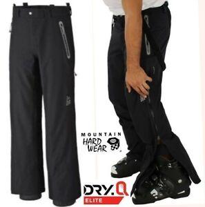 mint! MOUNTAIN HARDWEAR dry Q elite ski pants waterproof softshell side zips XXL