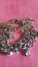 silver coloured bracelet Bnib Fiorelli double chain