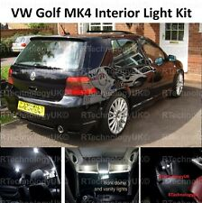 2018 PREMIUM VW GOLF MK4 IV INTERIOR LED CAR LIGHT KIT PURE XENON WHITE BULBS