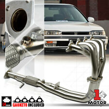 Stainless Steel 4-2-1 Exhaust Header Manifold for 90-93 Accord 2.2 F22A F22 4Cyl