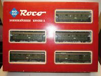 Roco 04062 S Spur H0 mit 5 Personenwagen Donnerbüchsen Epoche 2 OVP