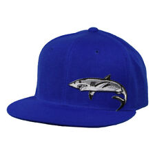 Great White Shark Hat by LET'S BE IRIE - Royal Blue Snapback