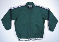 Vintage Champion Mens Green Arm Spell Out Full Zip Windbreaker Track Jacket XL