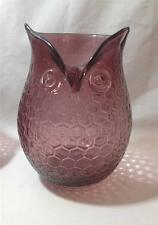 ASHLAND Owl Glass Vase Brown shade 8 inch Tall $29.99 value NEW