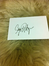 RODRIGUE Blue Dog George Rodrigue Signed Index Card Beautiful and Very RARE #1