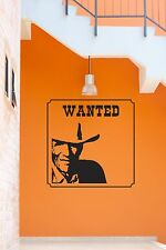 Wall Stickers Vinyl Decal Wanted Police Criminal Home Decor z1202