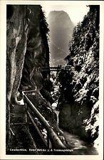 Lammeröfen Land Salzburg Postkarte ~1930/40 Hohe Brücke gegen das Tennengebirge