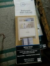 Popular Bathroom Wall Cabinet with Double White Door Organizer Storage Bath NEW