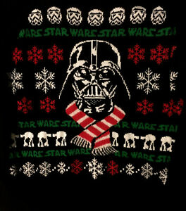 STAR WARS Darth Vader Ugly Christmas Sweater XMAS SZ XL Storm Trooper