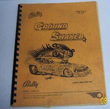BALLY GROUND SHAKER GAME 1154-E FO.622 BALLY MFG CORP 1979.