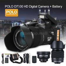 "POLO D7100 ULTRA HD 33MP 3"" LCD 24X ZOOM LED Digital DSLR Camera Photo Camcorder"