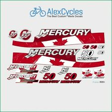 MERCURY Marine 50 HP Outboadrs Motor Canada Laminated Decals Boat Kit Stickers