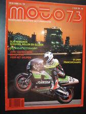 Moto 73 #18 26 augustus 1988 (NL) poster GP Sidecars #3 Biland #1 Webster