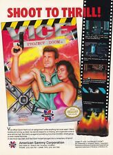 Original 1991 Sammy VICE THE PROJECT DOOM Nintendo NES video game print ad page