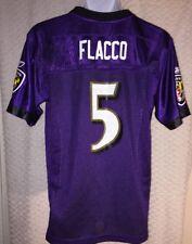 Joe Flacco Baltimore Ravens Jersey Size Youth Large By Reebok