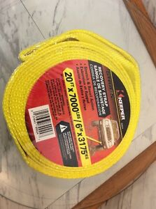 TOW STRAP Vehicle recovery 20ft KEEPER BRAND 15,000 lb web capacity NEW