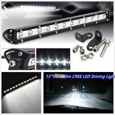 """Delgado 13"""" 9-32V DC 6000K 36W Cree LED Coche Luz de conducción off-road Spotlight blanco"""