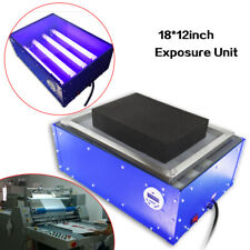 12in Screen Printing Exposure Unit Silk Screen Kit Plate Printing Machine 60w