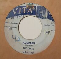 Doo Wop-Northern Soul Dancer THE COLTS Adorable Rare & Essential 45 VITA #112