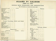 Allard J2/ardun e fogli di dati P1 - 14 pagine