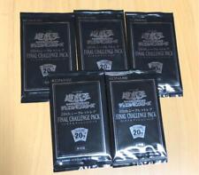 Konami Yu-Gi-Oh! Final Challenge Pack 20th Secret Rare Blue eyes 5 packs set