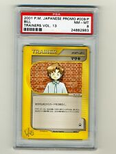 Pokemon PSA 8 NM-Mint Bill 2001 Trainers Magazine Vol 13 Japanese Promo Card 009