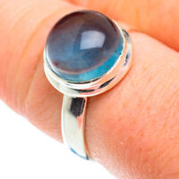 Blue Fluorite 925 Sterling Silver Ring Size 9 Ana Co Jewelry R52215F