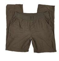 J Jill purejill Women Small Corduroy Pants Slacks Straight Leg Pockets Brown