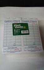 Adams 1 Part Guest Checks with Stub 20 Books 50 checks per book Sa540A