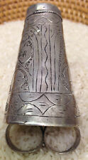 Ring Middle Eastern Silver Lapis Ceremonial Ring