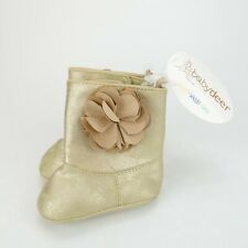 Baby Deer Infant Boots Gold Flower 2 To 3 Months Baby Girl